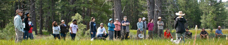 Clover Valley meadow tour participants