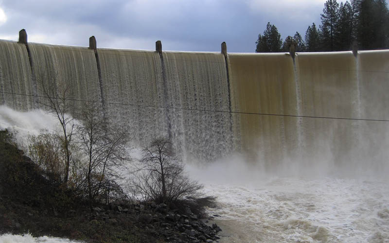 Combie reservoir spillway