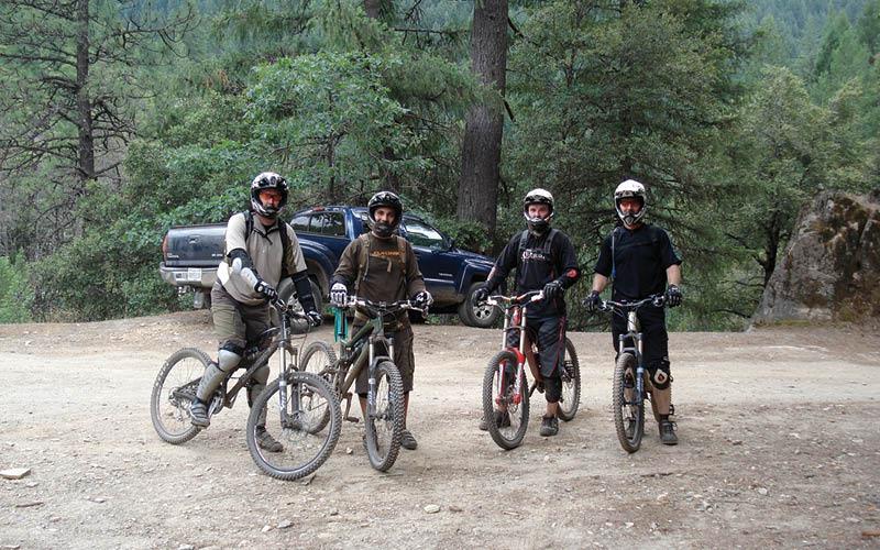 Dirtbikers in the Sierra Nevada